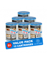 VALUE PACK 12 st. Intex Pure Spa Filter Cartridge Type S1