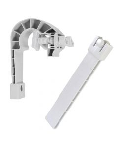 SKIMMER HOOK AND ADJUSTER FOR METAL FRAME POOLS