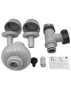 "LARGE POOL 1-1/2"" (38MM) INLET AND OUTLET FITTINGS SET FOR PUMP W/ SYSTEM FLOW RATE 1900-2500GPH  (IO)"
