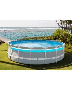 Ø 488 x 122 cm - Intex Clearview Prism Frame Premium zwembad, inclusief pomp en ladder