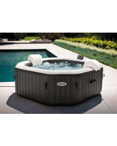 4 Persoons Carbone Jet & Bubble Deluxe - Intex PureSpa