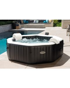 6 Pers. Jet & Bubble Deluxe - Intex PureSpa Carbone (model 2021)