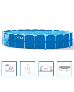 732 cm x 132 cm - Intex Metal Frame Pool