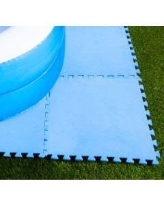 Vloertegels 50 x 50 x 0,4 cm blauw (8 stuks)